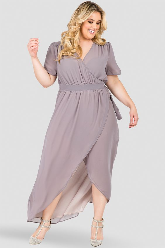 Plus Size Maxi Wrap Dresses The Untidy Closet